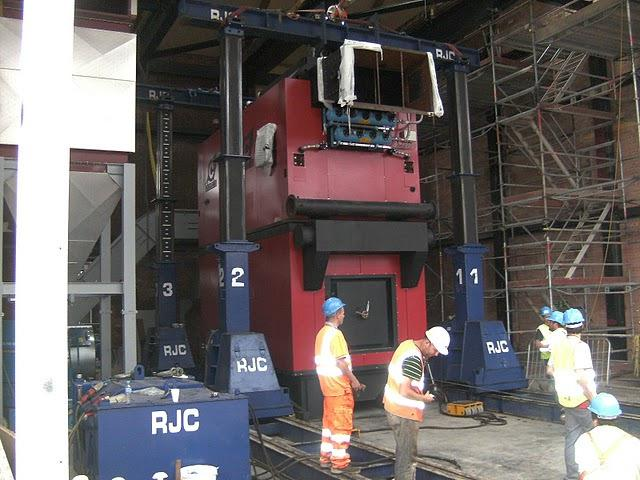 Compte-R woodchip boiler being installed at Olympic Park